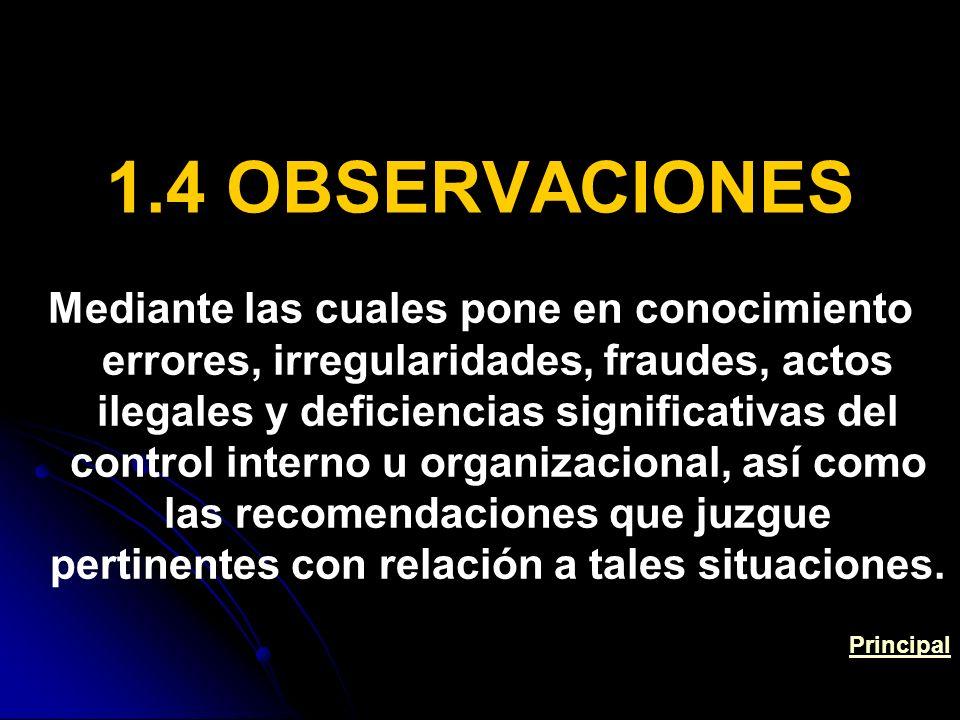 1.4 OBSERVACIONES