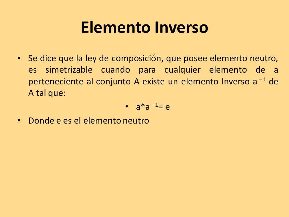 Elemento Inverso
