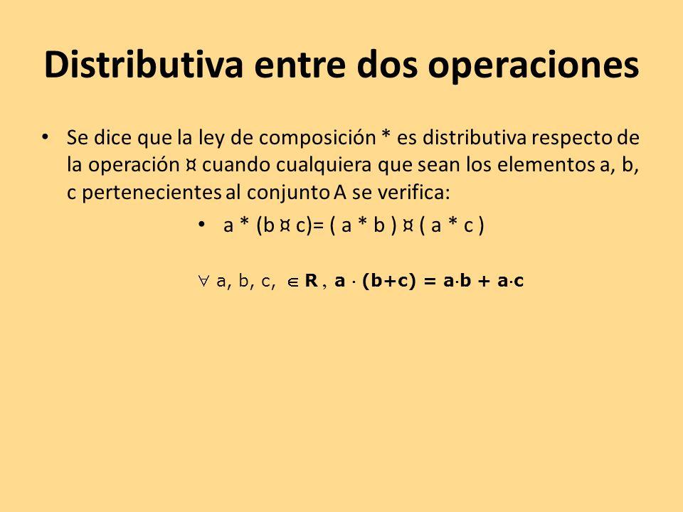 Distributiva entre dos operaciones