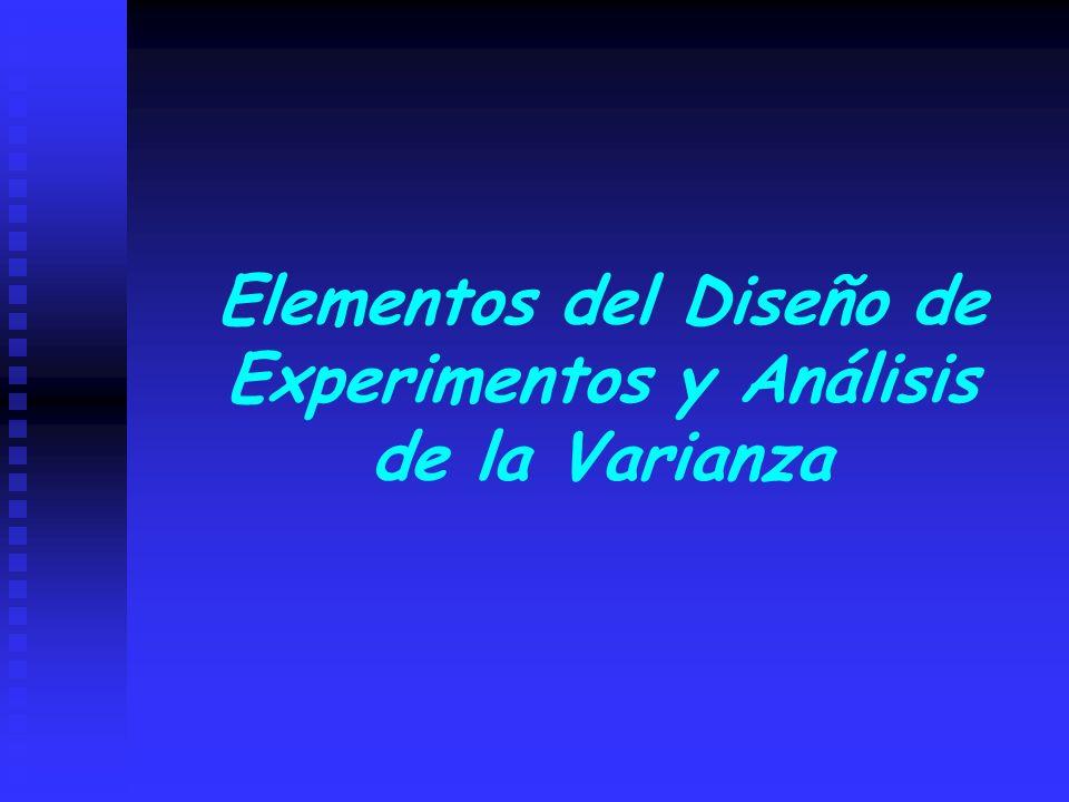 Elementos del Diseño de Experimentos y Análisis de la Varianza
