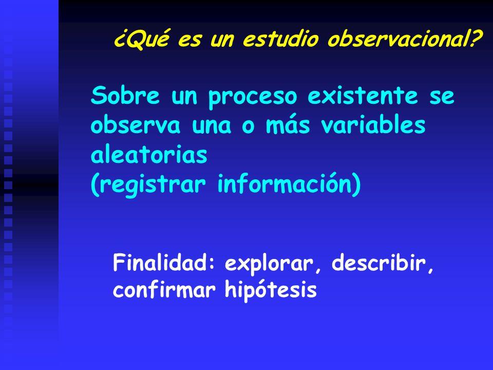 ¿Qué es un estudio observacional