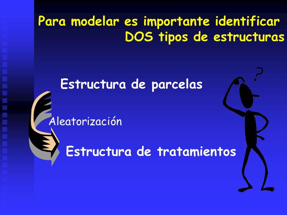Para modelar es importante identificar DOS tipos de estructuras