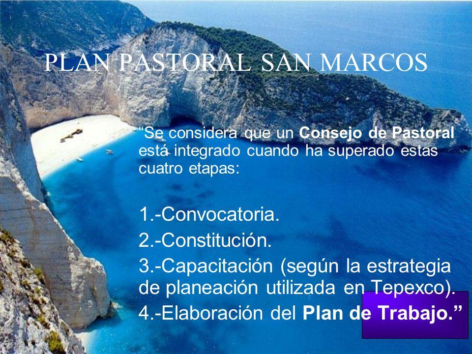PLAN PASTORAL SAN MARCOS