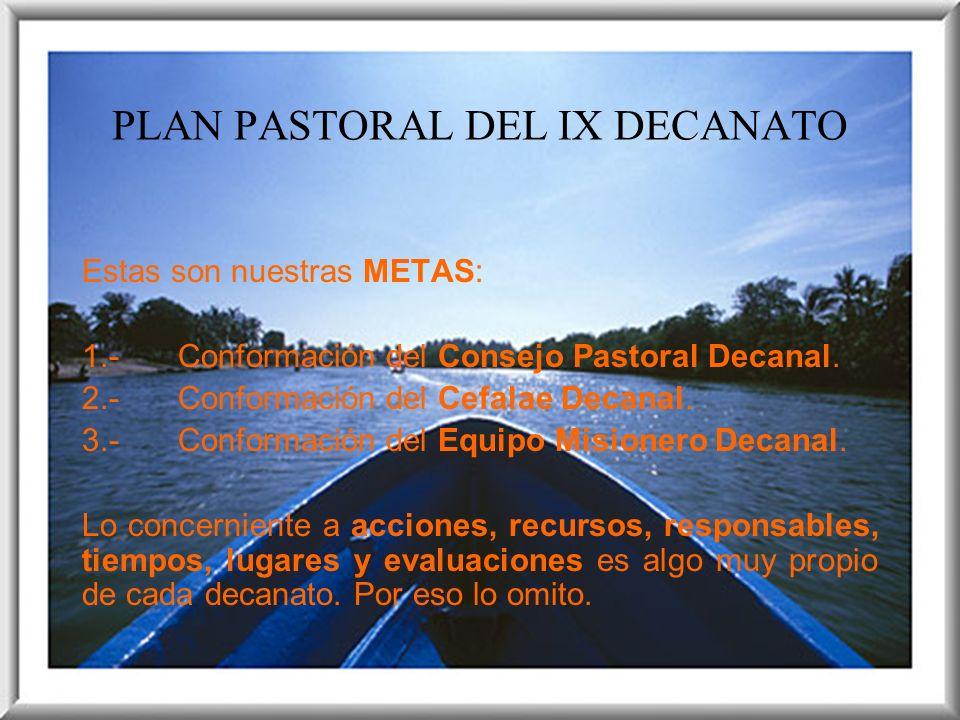 PLAN PASTORAL DEL IX DECANATO