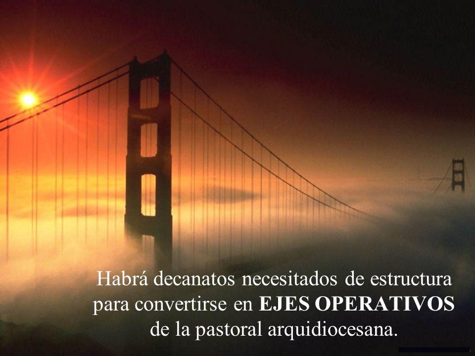 Habrá decanatos necesitados de estructura para convertirse en EJES OPERATIVOS de la pastoral arquidiocesana.