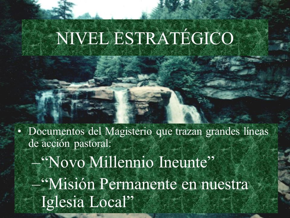 NIVEL ESTRATÉGICO Novo Millennio Ineunte