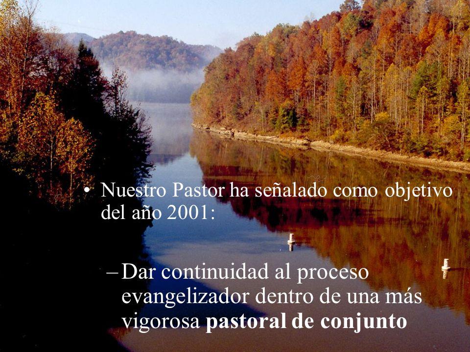 Nuestro Pastor ha señalado como objetivo del año 2001: