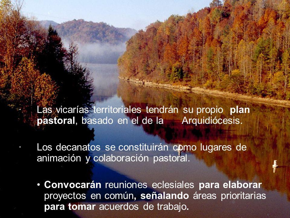 ·. Las vicarías territoriales tendrán su propio plan