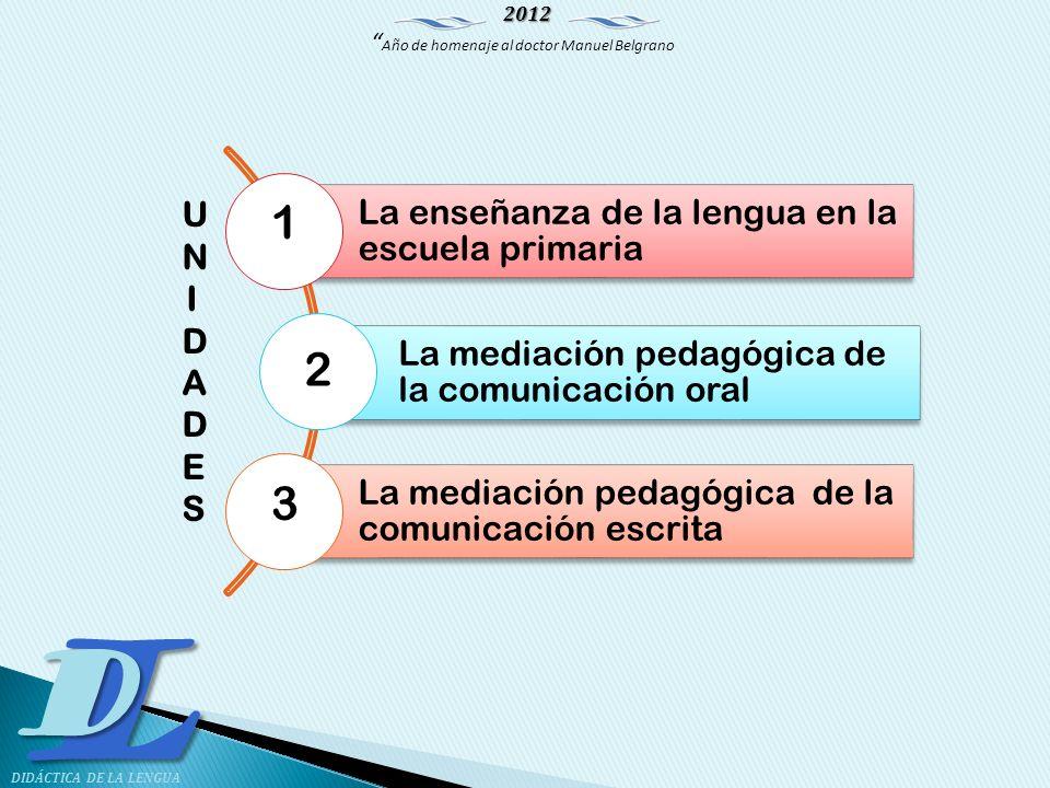 1 2 3 La enseñanza de la lengua en la escuela primaria UNIDADES