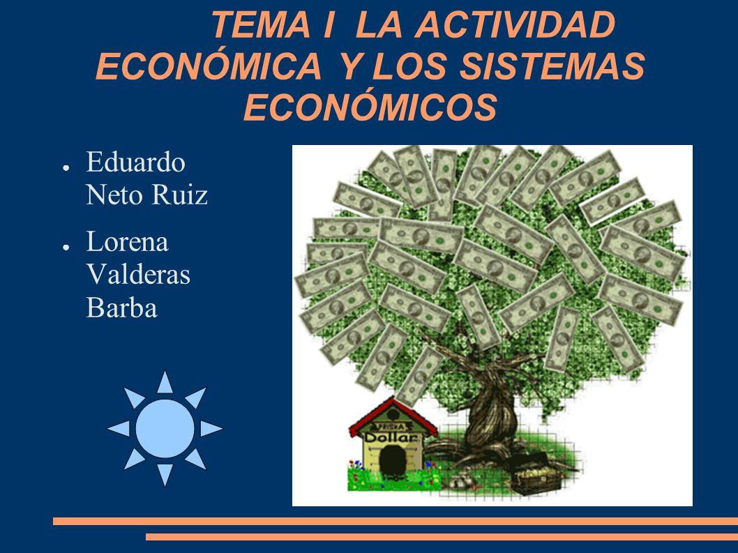 TEMA I LA ACTIVIDAD ECONÓMICA Y LOS SISTEMAS ECONÓMICOS