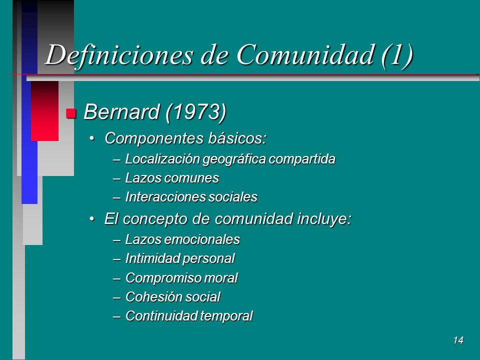 Definiciones de Comunidad (1)