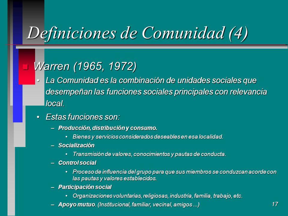 Definiciones de Comunidad (4)