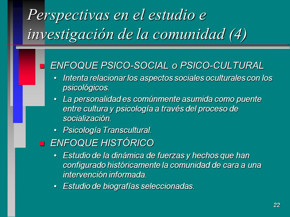 Perspectivas en el estudio e investigación de la comunidad (4)