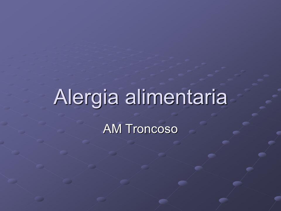 Alergia alimentaria AM Troncoso
