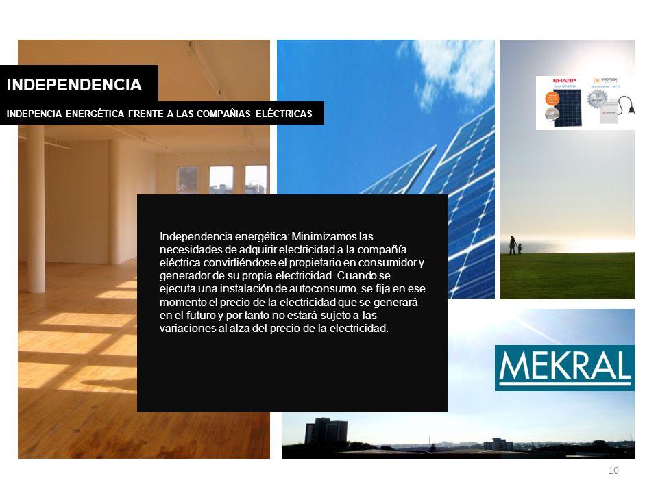 INDEPENDENCIA INDEPENCIA ENERGÉTICA FRENTE A LAS COMPAÑIAS ELÉCTRICAS.