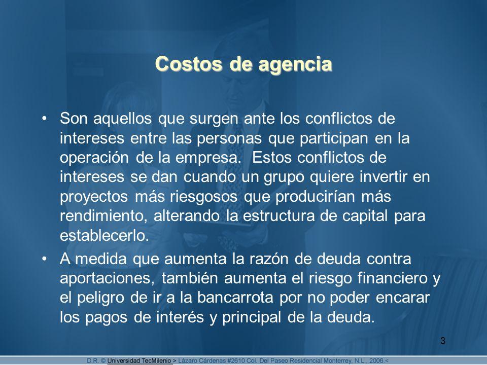 Costos de agencia