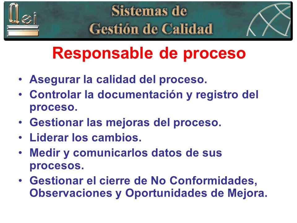 Responsable de proceso