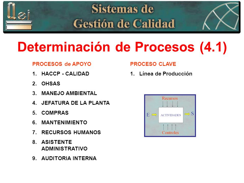 Determinación de Procesos (4.1)