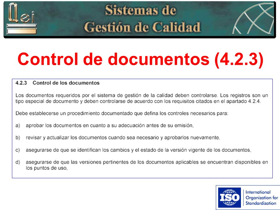 Control de documentos (4.2.3)