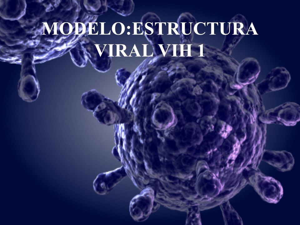 MODELO:ESTRUCTURA VIRAL VIH 1
