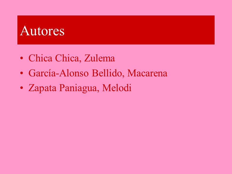 Autores Chica Chica, Zulema García-Alonso Bellido, Macarena