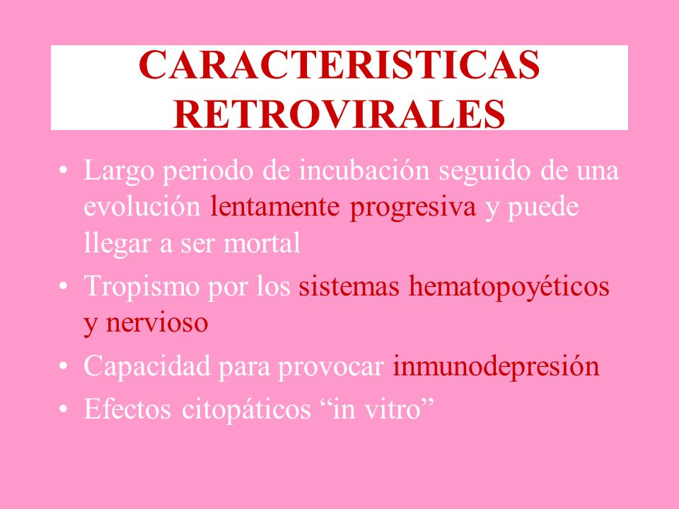 CARACTERISTICAS RETROVIRALES