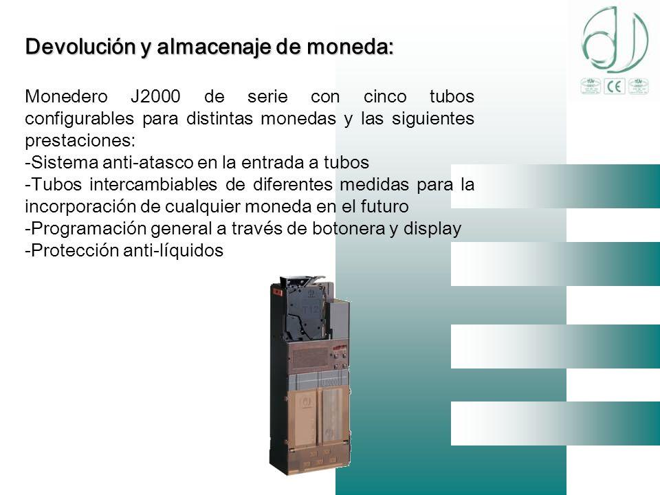 Devolución y almacenaje de moneda:
