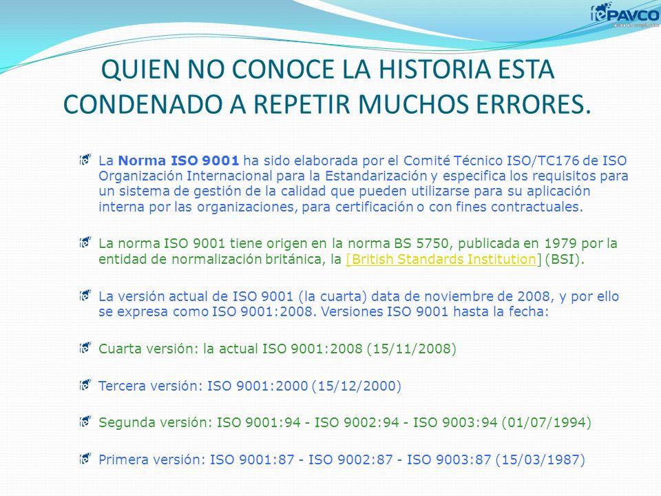 QUIEN NO CONOCE LA HISTORIA ESTA CONDENADO A REPETIR MUCHOS ERRORES.