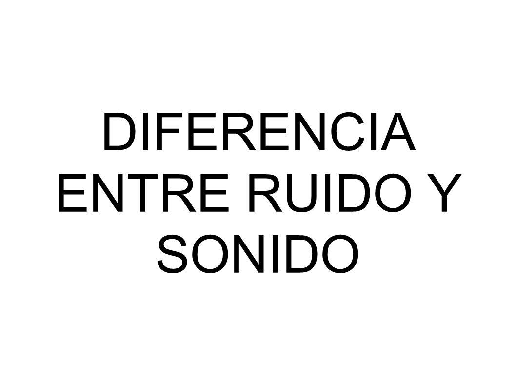 DIFERENCIA ENTRE RUIDO Y SONIDO