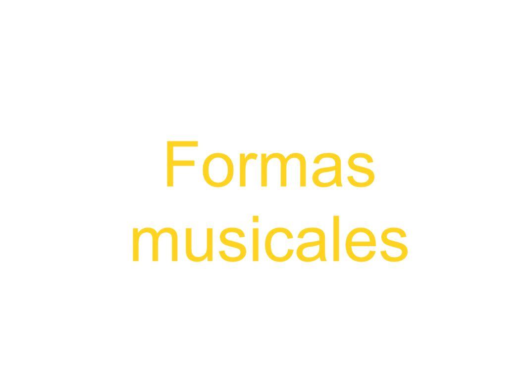 Formas musicales