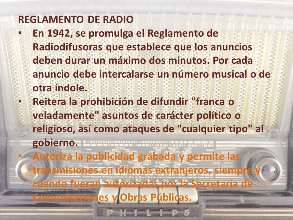 REGLAMENTO DE RADIO