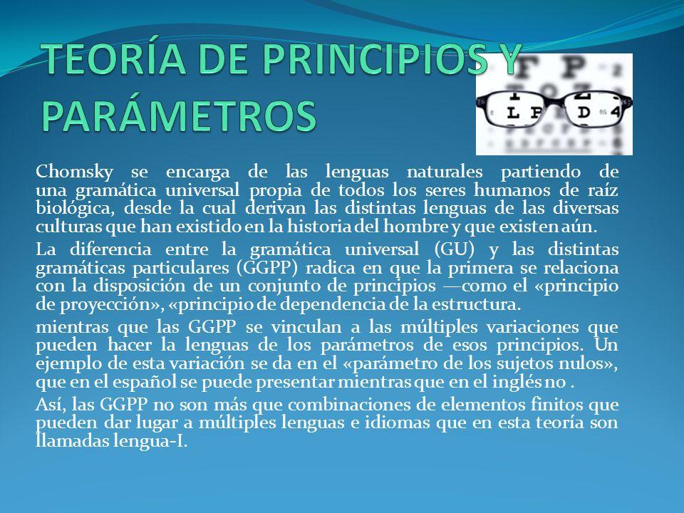 TEORÍA DE PRINCIPIOS Y PARÁMETROS