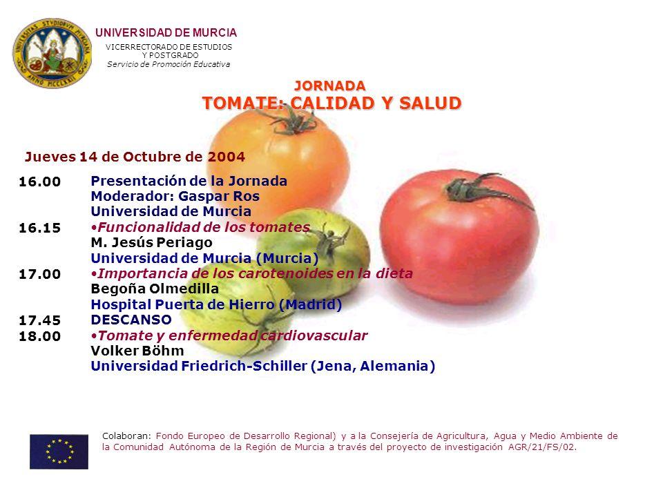 TOMATE: CALIDAD Y SALUD