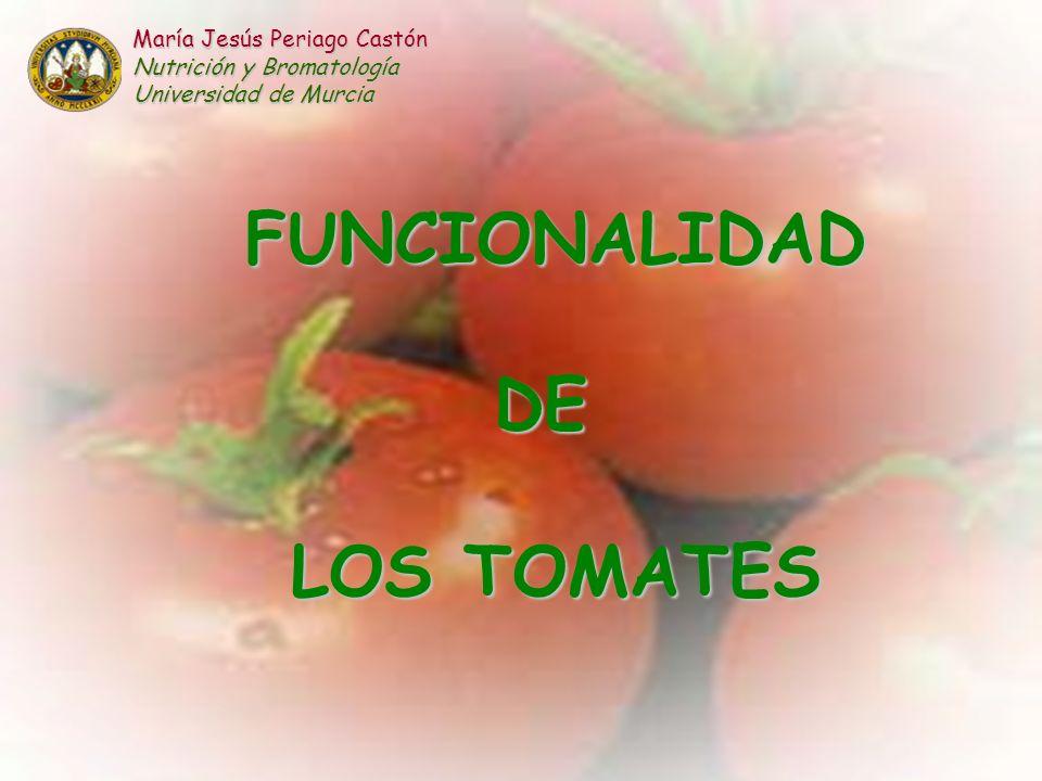 FUNCIONALIDAD DE LOS TOMATES