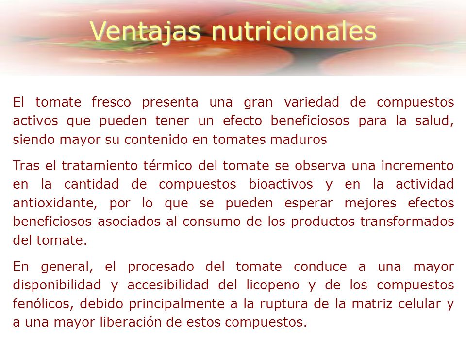 Ventajas nutricionales