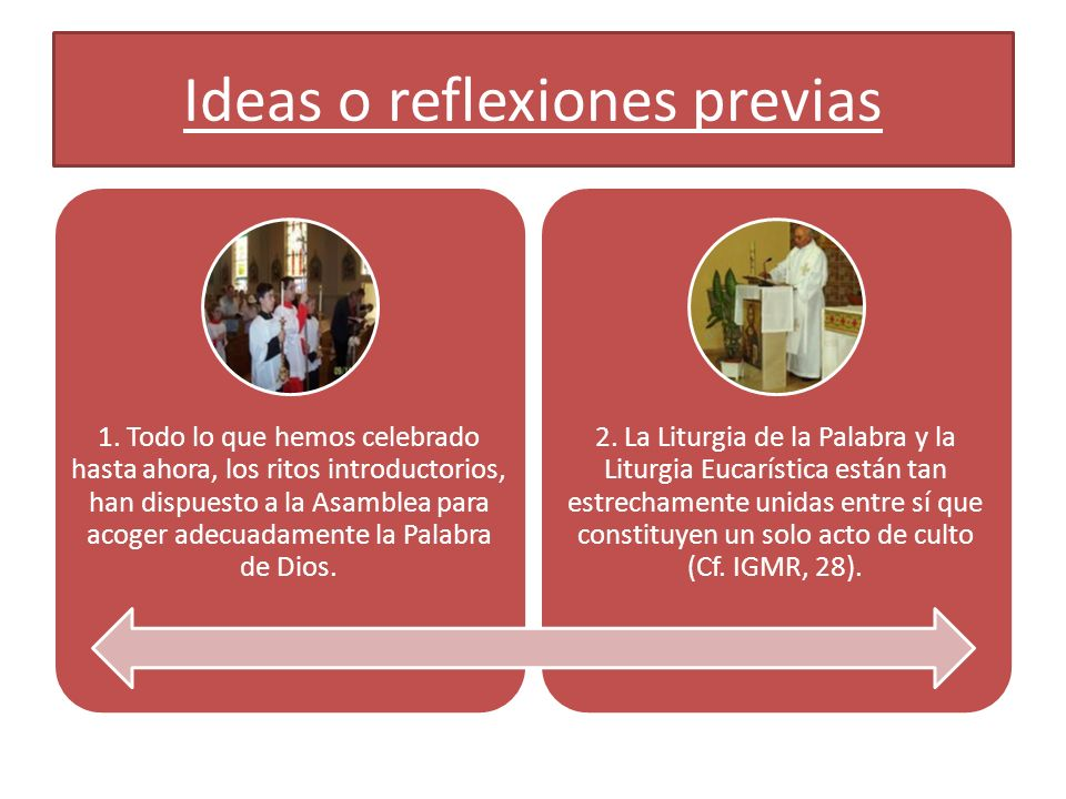 Ideas o reflexiones previas