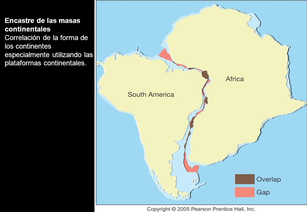 Encastre de las masas continentales