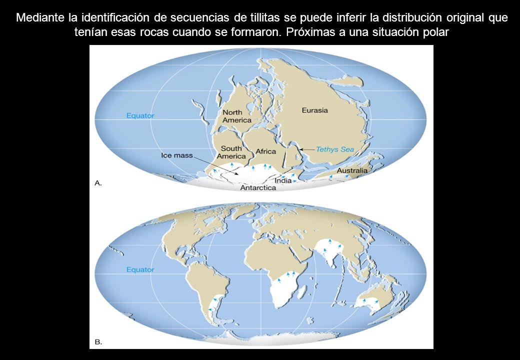 Mediante la identificación de secuencias de tillitas se puede inferir la distribución original que tenían esas rocas cuando se formaron.