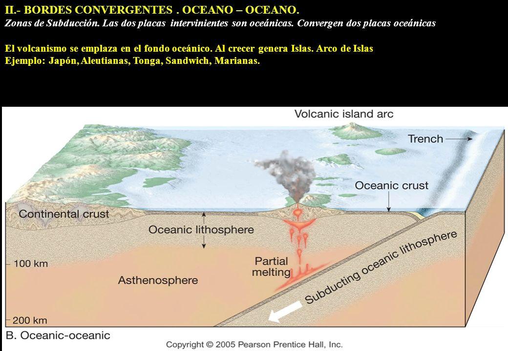 II.- BORDES CONVERGENTES . OCEANO – OCEANO.