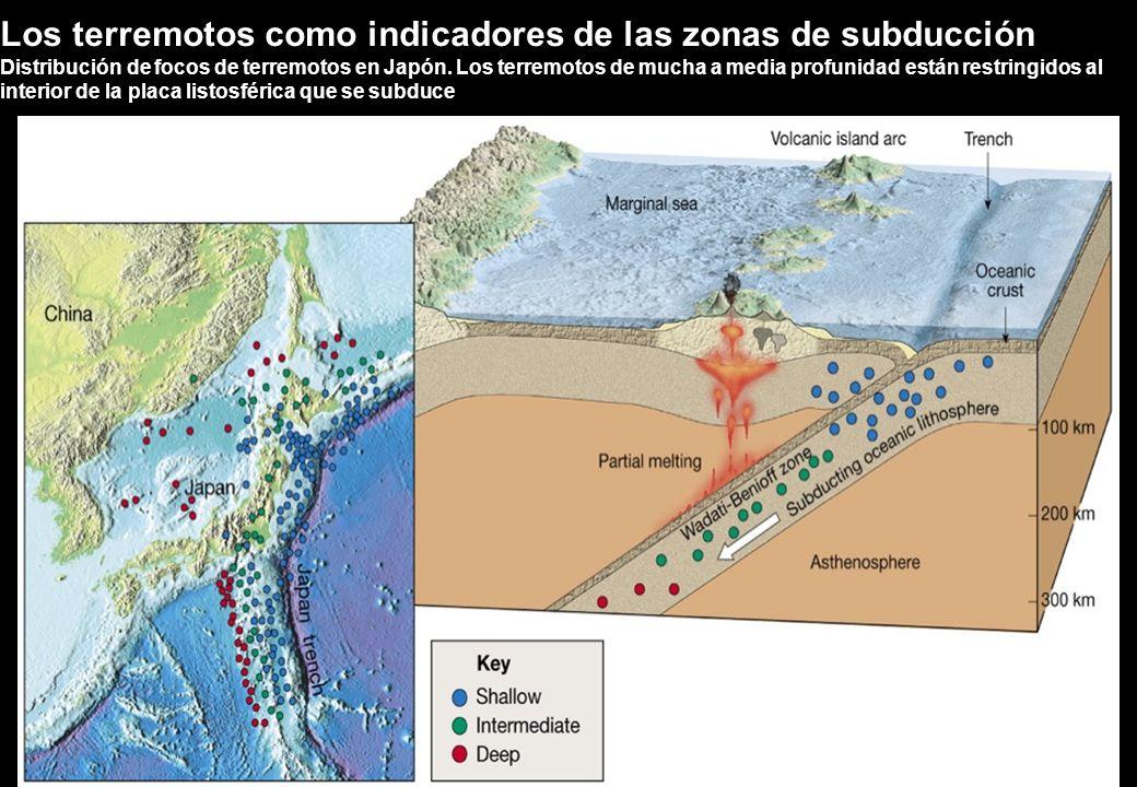 Los terremotos como indicadores de las zonas de subducción