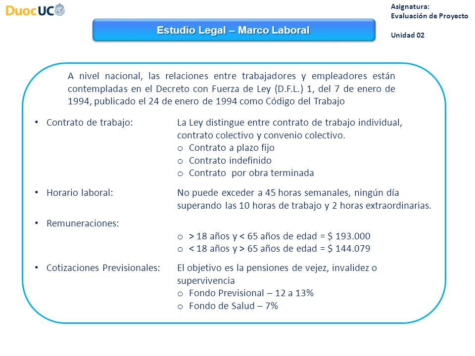 Estudio Legal – Marco Laboral