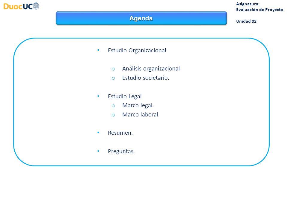 Estudio Organizacional Análisis organizacional Estudio societario.