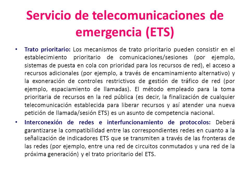 Servicio de telecomunicaciones de emergencia (ETS)