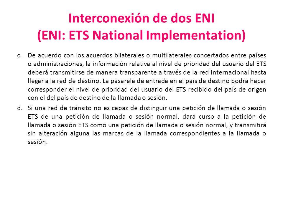 Interconexión de dos ENI (ENI: ETS National Implementation)