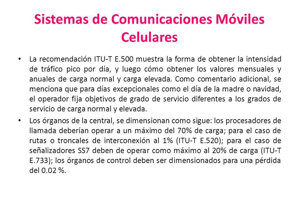 Sistemas de Comunicaciones Móviles Celulares