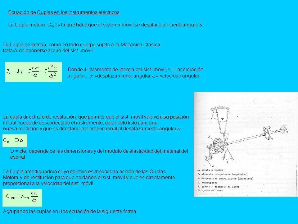 Ecuación de Cuplas en los Instrumentos eléctricos