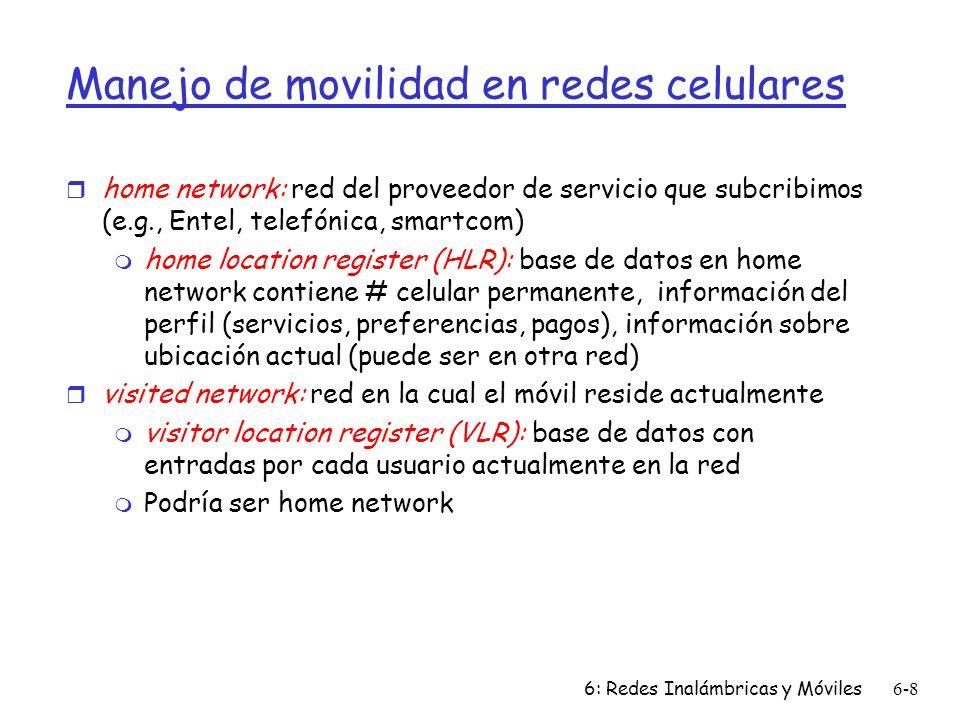 Manejo de movilidad en redes celulares