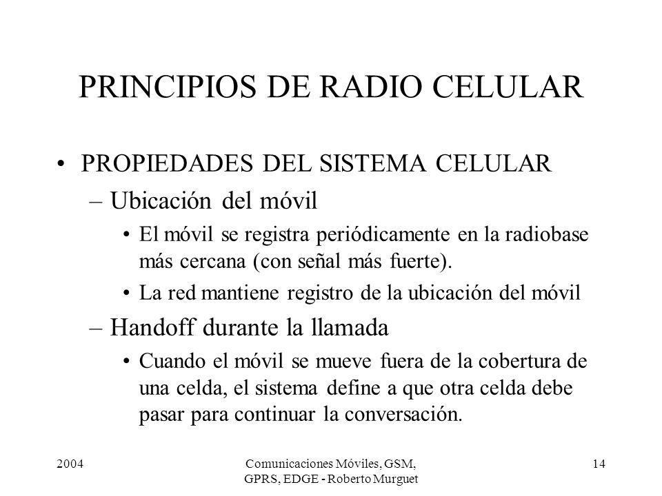 PRINCIPIOS DE RADIO CELULAR