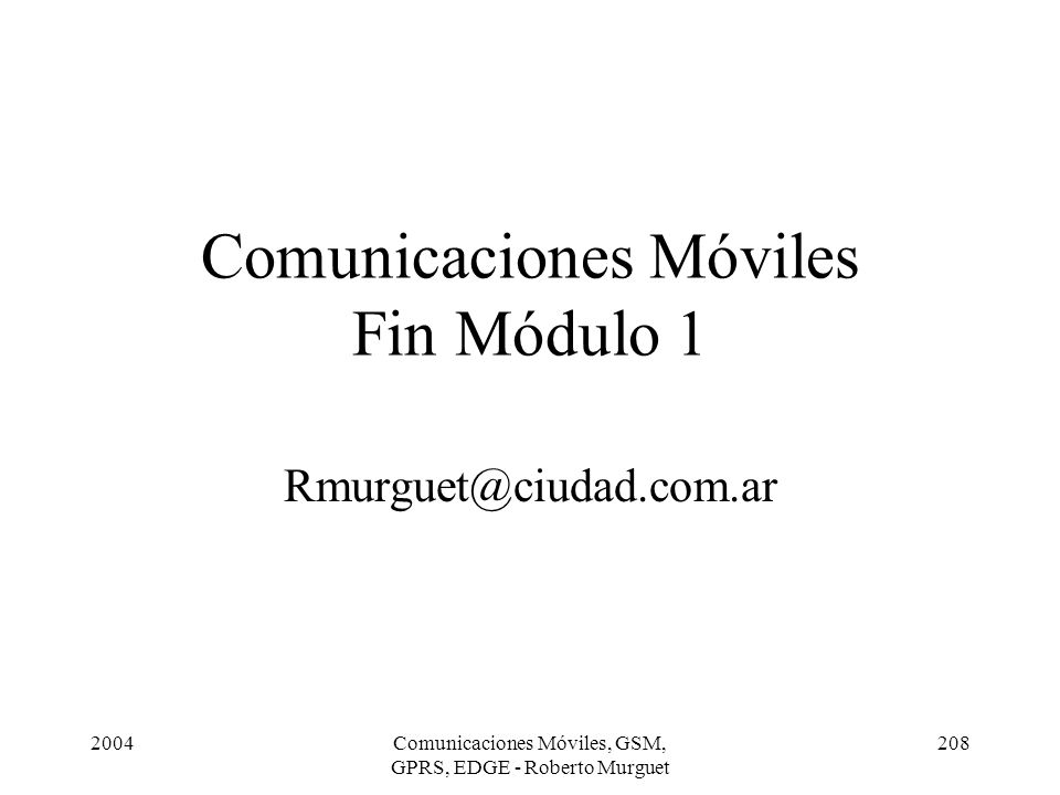 Comunicaciones Móviles Fin Módulo 1