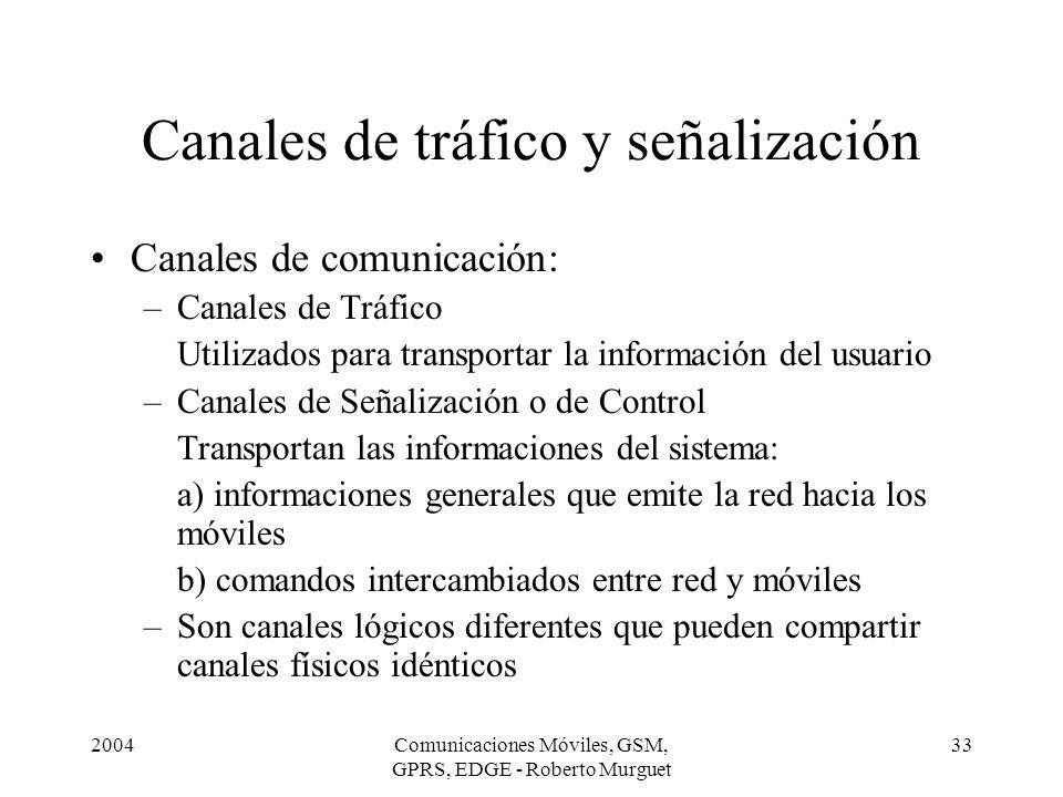 Canales de tráfico y señalización